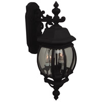 Craftmade Z334-TB French Style 3 Light 24 inch Textured Matte Black Outdoor Wall Lantern, Medium