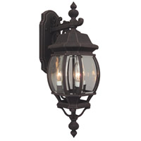 Craftmade Z334-RT French Style 3 Light 24 inch Rust Outdoor Wall Lantern, Medium