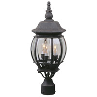 Exteriors by Craftmade French Style 3 Light Post Mount in Rust Z335-07