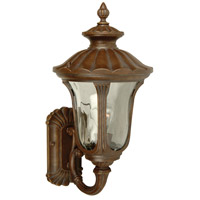Sheffield 1 Light 19 inch Aged Bronze Outdoor Wall Mount in Clear Hammered