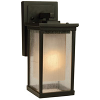 Riviera 1 Light 11 inch Oiled Bronze Outdoor Wall Mount in GU24