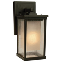 Riviera 1 Light 11 inch Oiled Bronze Outdoor Wall Mount in Medium