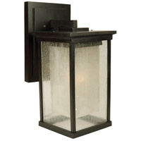 Riviera 1 Light 17 inch Oiled Bronze Outdoor Wall Mount in GU24