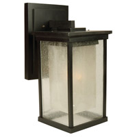 Exteriors by Craftmade Riviera 1 Light Outdoor Wall Mount in Oiled Bronze Z3724-92