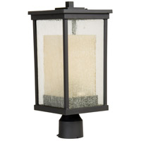 Riviera 1 Light 18 inch Oiled Bronze Post Mount in GU24