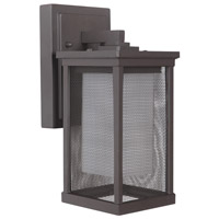 Riviera II 1 Light 11 inch Oiled Bronze Outdoor Wall Lantern, Small