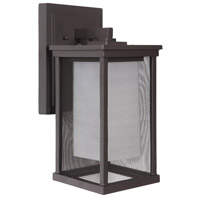 Craftmade Z3764-OBO Riviera II 1 Light 14 inch Oiled Bronze Outdoor Wall Lantern, Medium