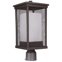 Craftmade Z3775-92 Riviera II 1 Light 18 inch Oiled Bronze Outdoor Post Mount in White Frosted Glass