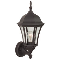 Craftmade Z380-TB Curved Glass 1 Light 17 inch Textured Matte Black Outdoor Wall Lantern Small