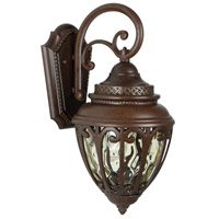 Craftmade Z3804-AG Olivier 1 Light 17 inch Aged Bronze Textured Outdoor Wall Lantern, Small