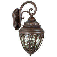 Olivier 3 Light 21 inch Aged Bronze Textured Outdoor Wall Lantern, Medium