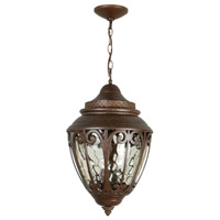 Exteriors by Craftmade Olivier 3 Light Outdoor Pendant in Aged Bronze Z3821-98