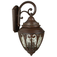Craftmade Z3824-AG Olivier 3 Light 25 inch Aged Bronze Textured Outdoor Wall Lantern, Large