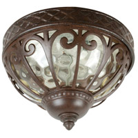 Exteriors by Craftmade Olivier 2 Light Outdoor Flushmount in Aged Bronze Z3837-98