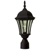 Craftmade Z385-TB Curved Glass 1 Light 18 inch Textured Matte Black Outdoor Post Light Medium