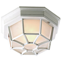Exteriors by Craftmade Bulkhead 1 Light Outdoor Flushmount in Matte White Z389-04