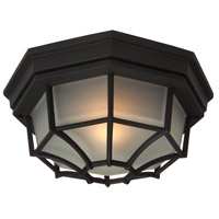 Bulkhead 1 Light 11 inch Matte Black Outdoor Flushmount