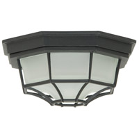 Bulkhead 1 Light 9 inch Matte Black Outdoor Flushmount