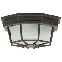 Bulkhead 1 Light 9 inch Rust Outdoor Flushmount