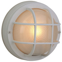 Exteriors by Craftmade Bulkhead 1 Light Outdoor Flushmount in Matte White Z394-04