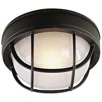Bulkhead 1 Light 8 inch Matte Black Outdoor Flushmount