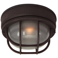 Bulkhead 1 Light 8 inch Rust Outdoor Flushmount