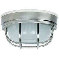 Exteriors by Craftmade Bulkhead 1 Light Outdoor Flushmount in Stainless Steel Z394-56