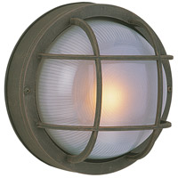 Craftmade Z394-RT Bulkheads 1 Light 8 inch Rust Outdoor Flushmount, Small photo thumbnail