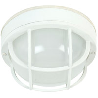 Exteriors by Craftmade Bulkhead 1 Light Outdoor Flushmount in Matte White Z395-04-NRG