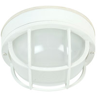 Exteriors by Craftmade Bulkhead 1 Light Outdoor Flushmount in Matte White Z395-04