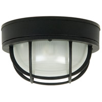Bulkhead 1 Light 10 inch Matte Black Outdoor Flushmount