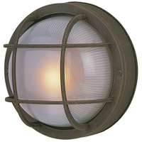 Exteriors by Craftmade Bulkhead 1 Light Outdoor Flushmount in Rust Z395-07-NRG