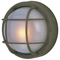 Bulkhead 1 Light 10 inch Rust Outdoor Flushmount