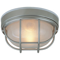 Bulkhead 1 Light 10 inch Stainless Steel Outdoor Flush Mount