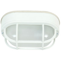 Bulkhead 1 Light 5 inch Matte White Outdoor Flushmount