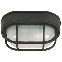 Bulkhead 1 Light 5 inch Matte Black Outdoor Flushmount