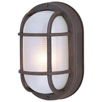 Exteriors by Craftmade Bulkhead 1 Light Outdoor Flushmount in Rust Z396-07