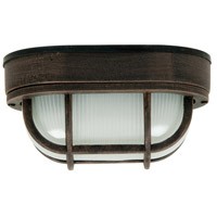 Bulkhead 1 Light 7 inch Rust Outdoor Flushmount
