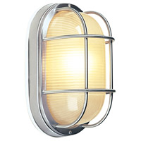 Bulkhead 1 Light 7 inch Stainless Steel Outdoor Flush Mount