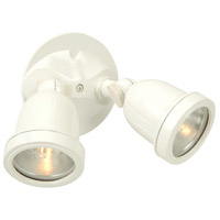 Exteriors by Craftmade Halogen 2 Light Outdoor Flood in Matte White Z412-4