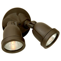 Exteriors by Craftmade Halogen 2 Light Outdoor Flood in Oiled Bronze Z412-63