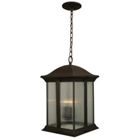 Summit 3 Light 11 inch Oiled Bronze Outdoor Pendant in Clear Halophane Glass