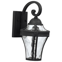 Parish 1 Light 14 inch Textured Matte Black Outdoor Wall Lantern, Small