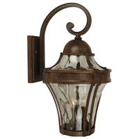 Parish 1 Light 14 inch Aged Bronze Textured Outdoor Wall Lantern, Small