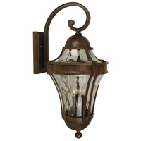 Exteriors by Craftmade Parish 2 Light Outdoor Wall Mount in Aged Bronze Z4214-98