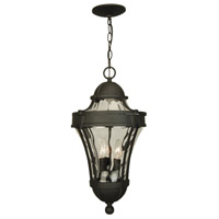 Parish 3 Light 11 inch Textured Matte Black Outdoor Pendant, Large
