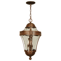 Parish 3 Light 11 inch Aged Bronze Textured Outdoor Pendant, Large