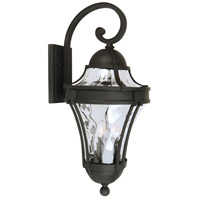 Exteriors by Craftmade Parish 3 Light Outdoor Wall Mount in Matte Black Z4224-05