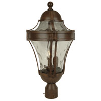 Craftmade Z4225-AG Parish 3 Light 23 inch Aged Bronze Textured Outdoor Post Light Large