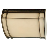 Craftmade Z4307-92 Vale 1 Light 11 inch Oiled Bronze Outdoor Flush Mount in Champagne Frost, Convertible to Wall Mount